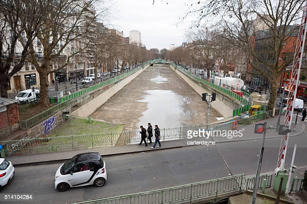 Canal Saint Martin in Paris France, Construction Repair and Maintenance