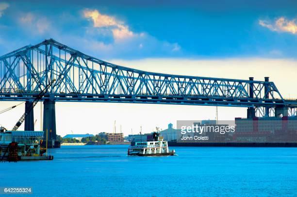 canal street ferry, new orleans, louisiana - カナルストリート ストックフォトと画像
