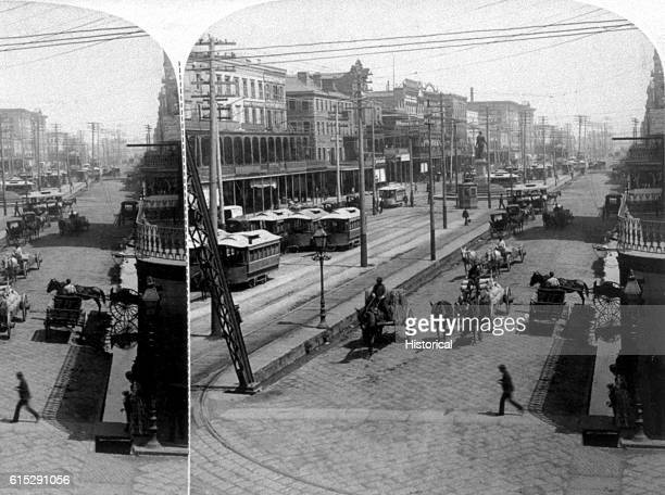 Canal Street in New Orleans Louisiana was the broadest street in the world in 1891