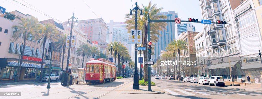 Canal street in New Orleans : Stock Photo