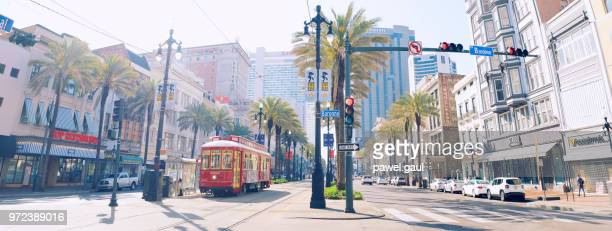 canal street in new orleans - louisiana stock pictures, royalty-free photos & images
