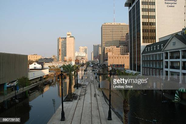 Canal Street in New Orleans remains under water more than a week after the onslaught of Hurricane Katrina