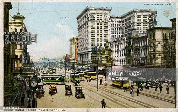 Canal Street New Orleans USA c1912 Postcard posted in 1912 The large building on the right is the Maison Blanche department store built in 19081909