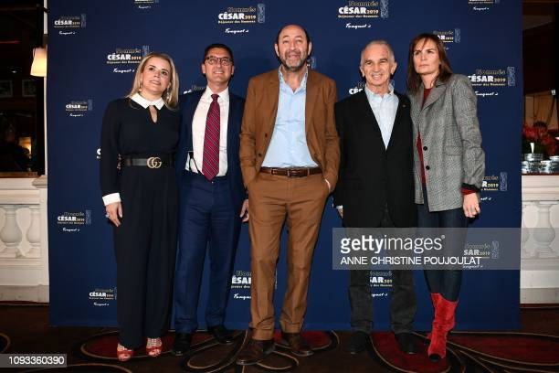 Canal TV channel Chairman Maxime Saada and his wife Sylvie Saada French actor and Master of Ceremony Kad Merad and FrenchArmenian film producer and...