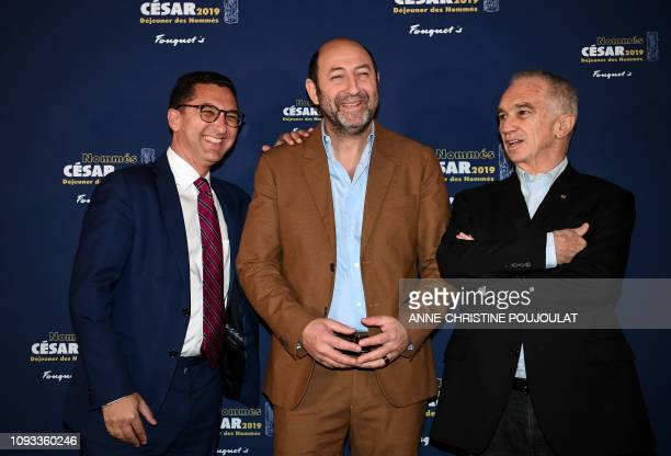 Canal TV channel Chairman Maxime Saada French actor and Master of Ceremony Kad Merad and FrenchArmenian film producer and Cesar Academy president...