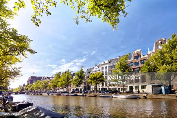canal view amsterdam netherlands