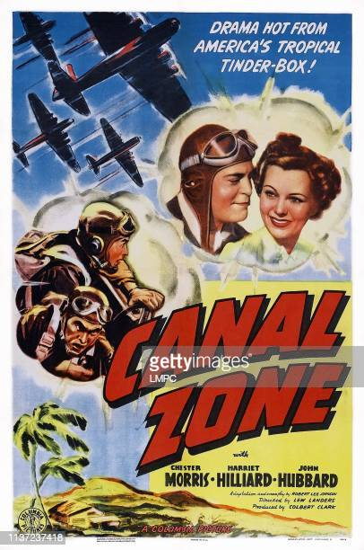 Canal Zone poster US poster top from left Chester Morris Harriet Hilliard 1942