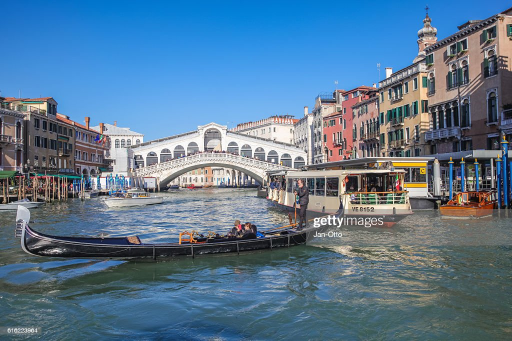 Canale Grande and Rialto Bridge in Venice, Italy : Photo