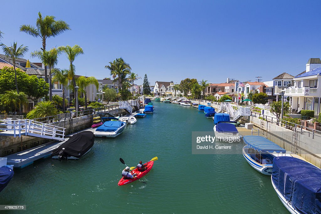 Canals around Naples in Long Beach, California : ストックフォト