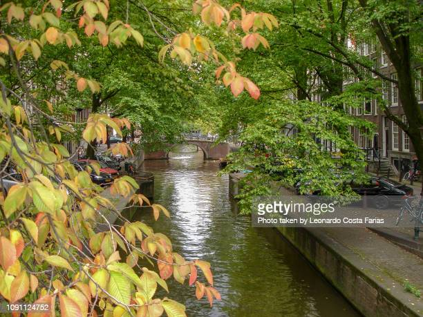 canals of amsterdam - leonardo costa farias stock photos and pictures