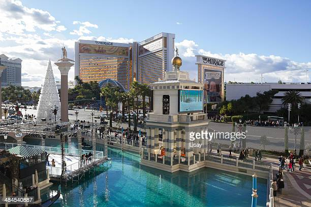 canals of venice - the mirage las vegas stock pictures, royalty-free photos & images