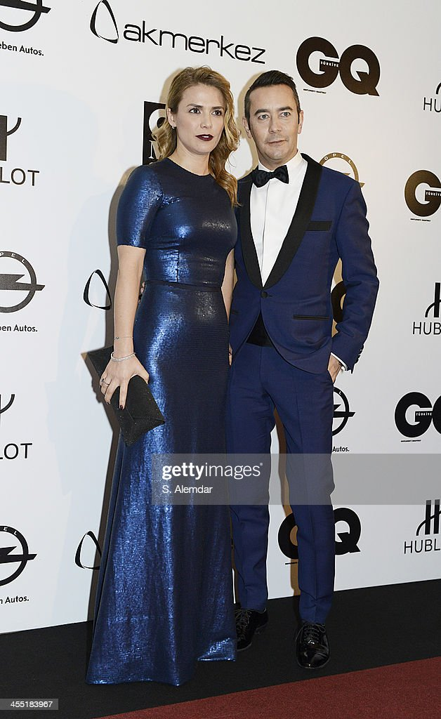 Canan Ozdemir and Anthony Doucet attend the GQ Turkey Men of the Year awards at Four Seasons Bosphorus Hotel on December 11, 2013 in Istanbul, Turkey.