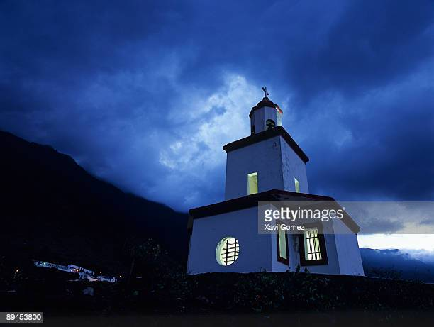 Canary Islands. El Hierro. Virgen de la Candelaria church in La Frontera.