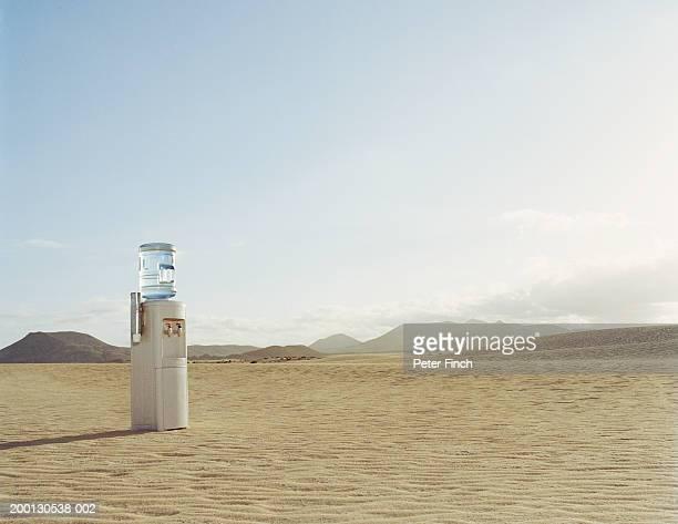Canary Islands, Fuerteventura, Corralejo, water dispenser in desert