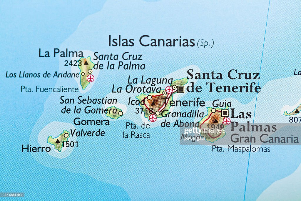 Canary Islands Spain Map Stock Photo Getty Images