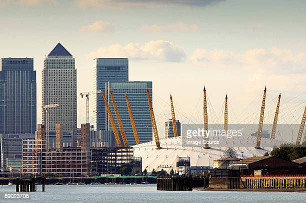 Canary wharf and millennium dome