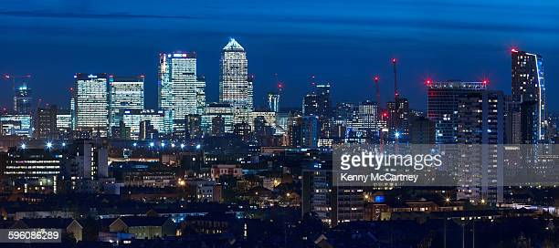 canary wharf and stratford - stratford london stock pictures, royalty-free photos & images