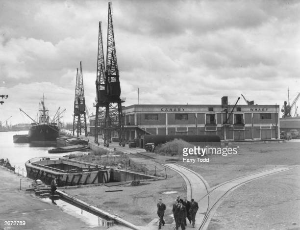 Canary Wharf at London's West India Docks