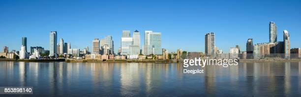 Canary Wharf Business District City Skyline, London UK