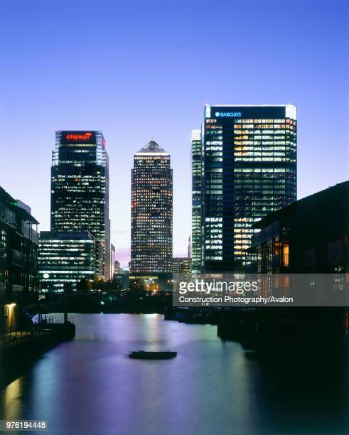 Canary Wharf Docklands area, London United Kingdom.