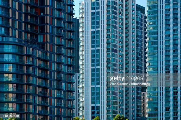 canary wharf, docklands, london, england, united kingdom, europe - alan copson stock pictures, royalty-free photos & images