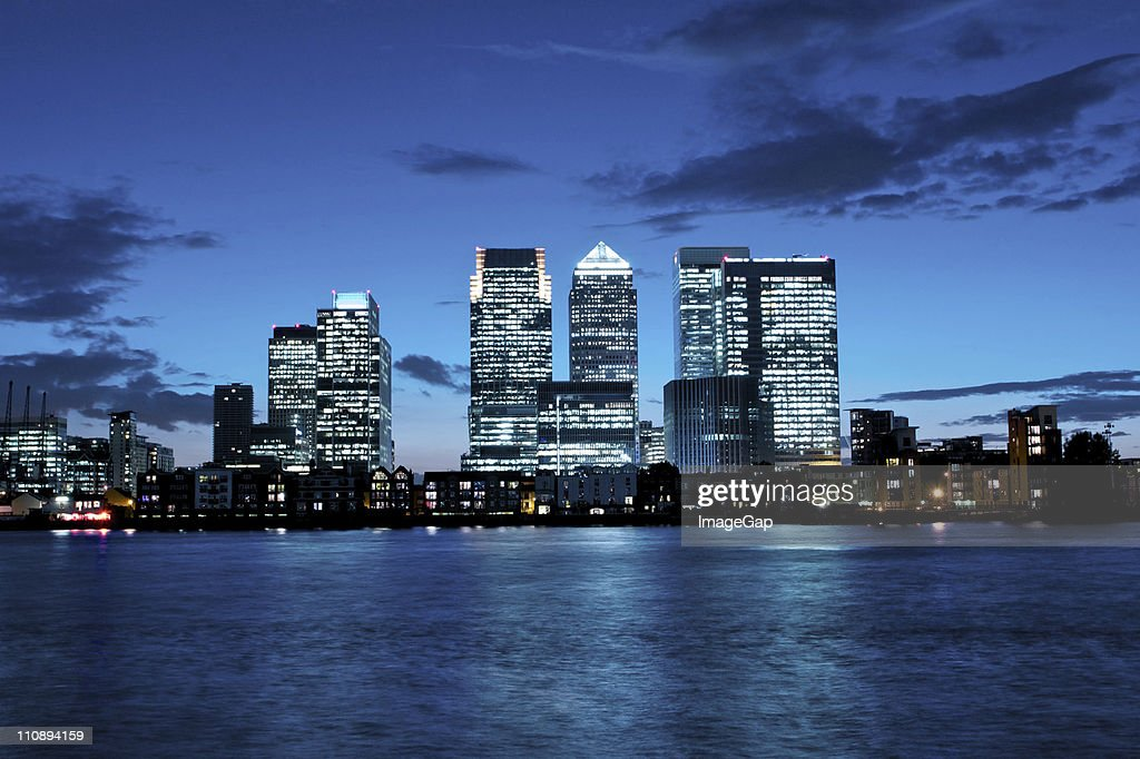 Canary Wharf financial district : Stock Photo