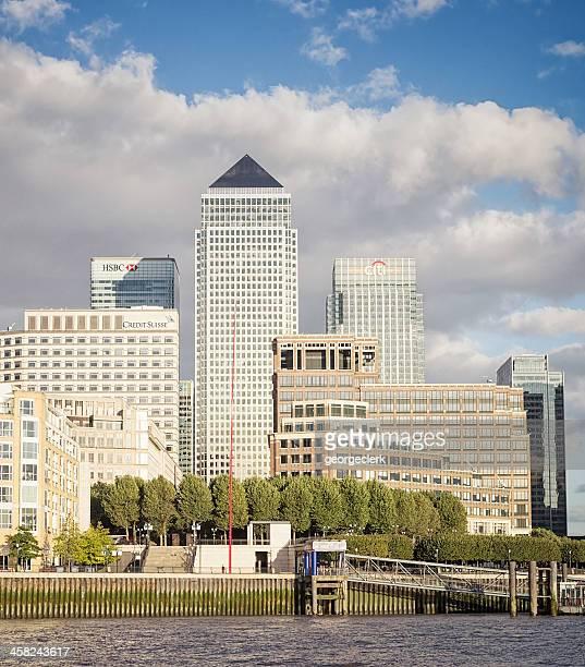Der Themse und Canary Wharf
