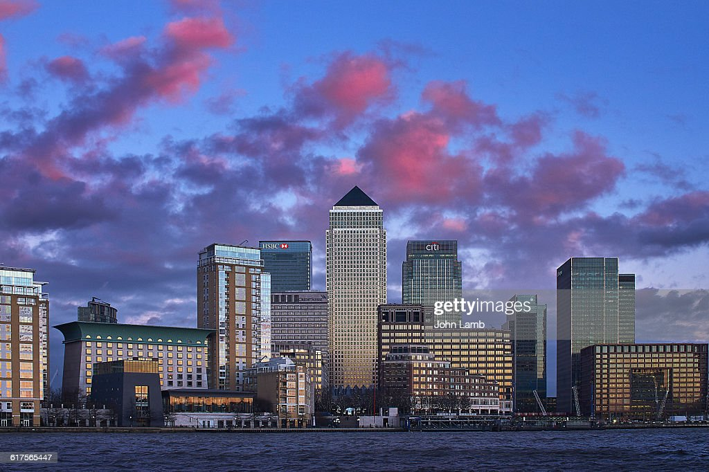 Canary Wharf, Isle of Dogs and River Thames : Stock Photo