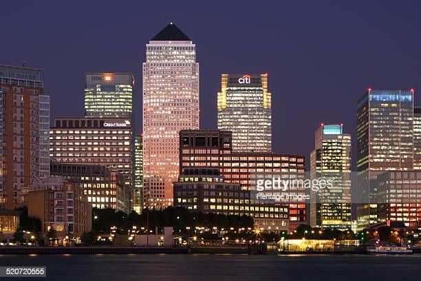 Canary Wharf London 2009 The redevelopment of the Canary Wharf area of London's docklands began in the 1980s It saw the construction of a complex of...
