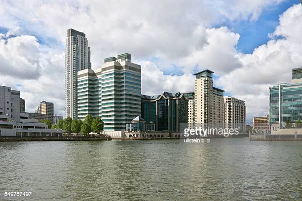 Canary Wharf London Appartementhotels und Bürogebäude am West India Quai