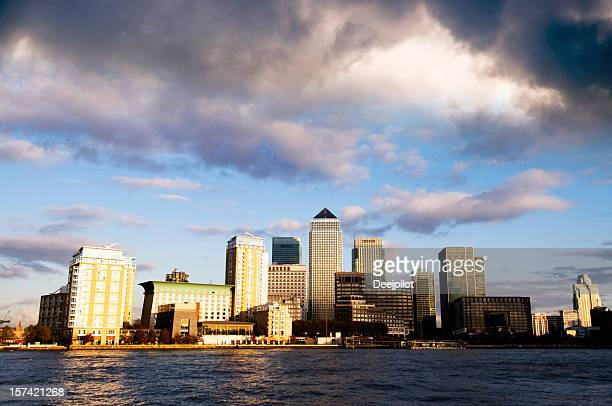 Canary Wharf London City Skyline in London UK