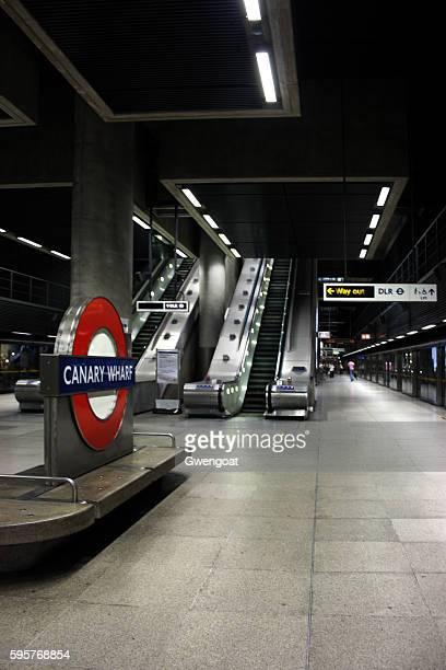 Estação de Trem Canary Wharf em Londres
