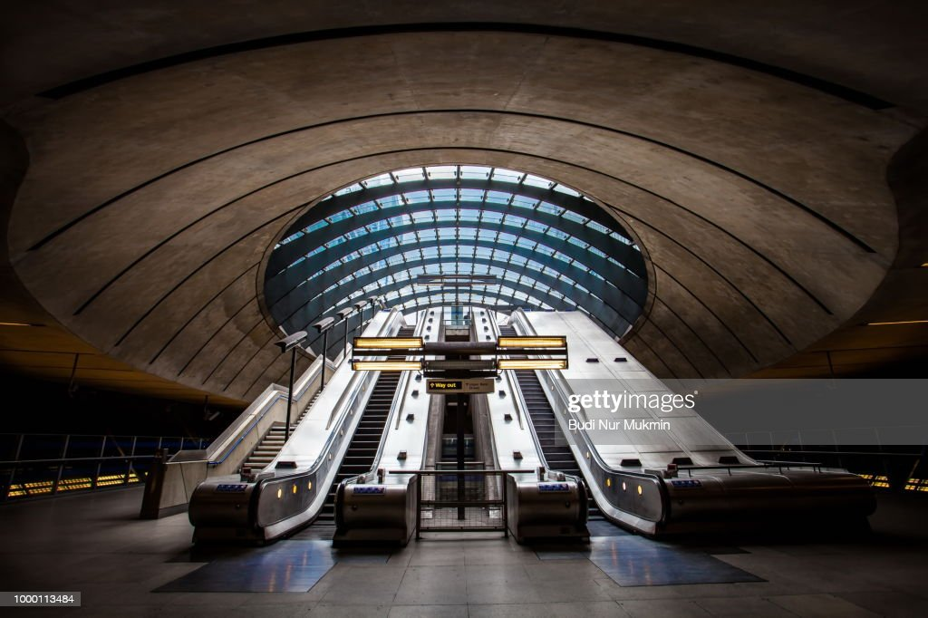 Canary Wharf Station : Stock Photo