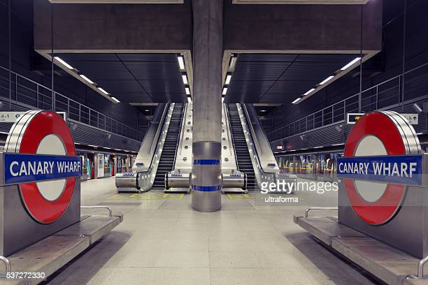 Canary Wharf underground station in London