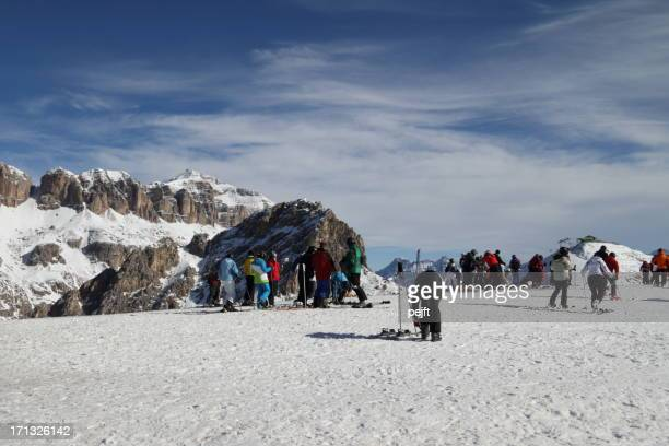 canazei - belvedere skiing area - pejft stock pictures, royalty-free photos & images