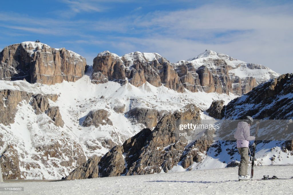 Canazei - Belvedere skiing area : Stock Photo