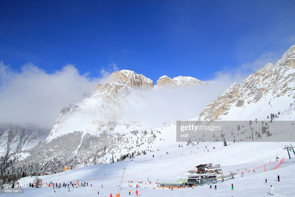 Canazei - Belvedere skiing area : Stock Photo