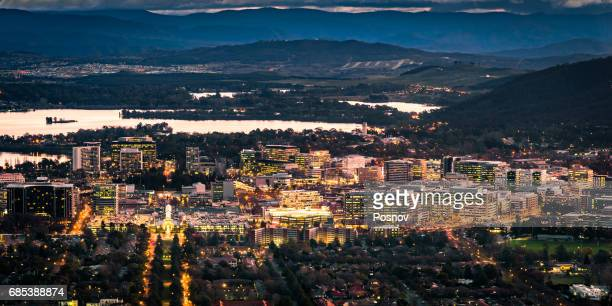 Canberra City Centre, View from Mount Ainslie, Australian Capital Territory
