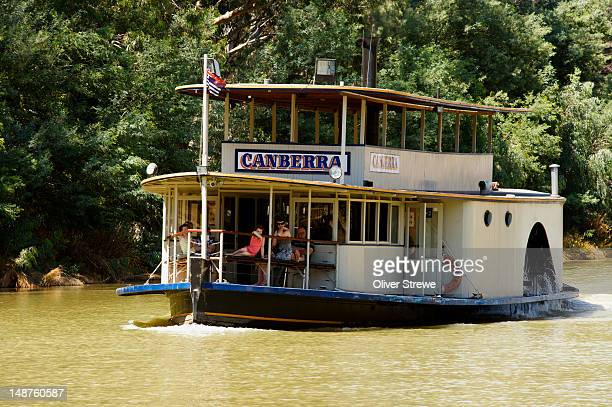 'Canberra' paddlesteamer on Murray River.