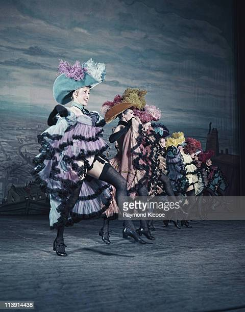 CanCan dancers performing in a Cole Porter show at the Coliseum in London December 1954 Original Publication Picture Post 7443 CanCan pub 18th...