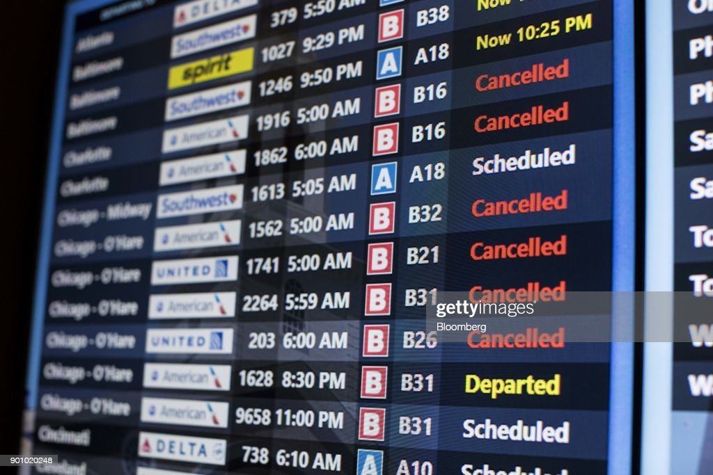 Logan International Airport As Flights Get Canceled Ahead Of Major Snowstorm : News Photo