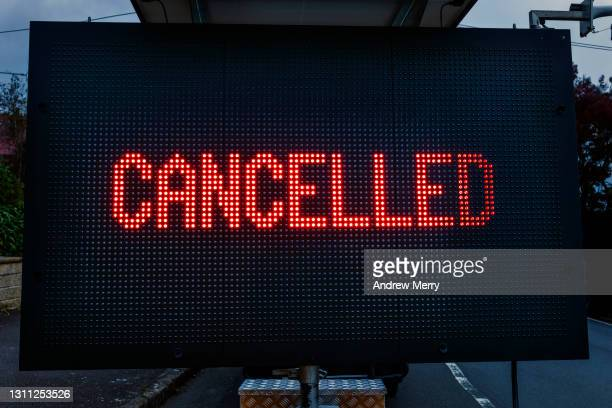 cancelled sign cancel culture - cancellation stock pictures, royalty-free photos & images