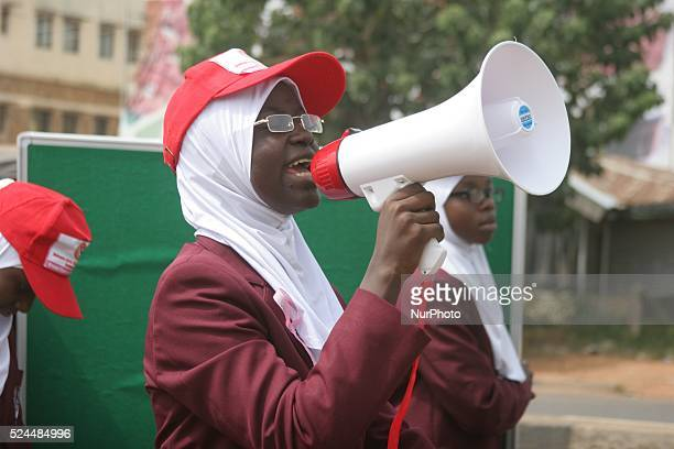 Cancer Awareness campaign by student of Dialogue school rally along Ahmadu Bello way in Kaduna Nigeria 29 October 2015