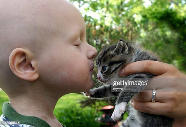 Cancer Kids; kisses for kitten