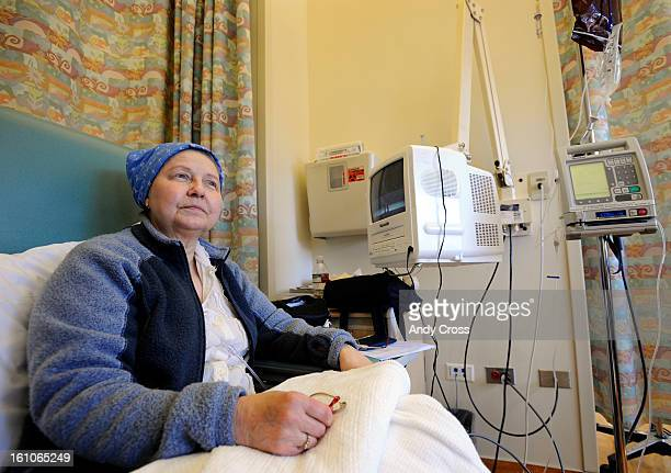 AURORA COLORADOFEBRUARY15TH 2008 Cancer patient Barbara Rathburn 66yearsold during her chemotherapy treatment at the Anschutz Cancer Pavilion at the...