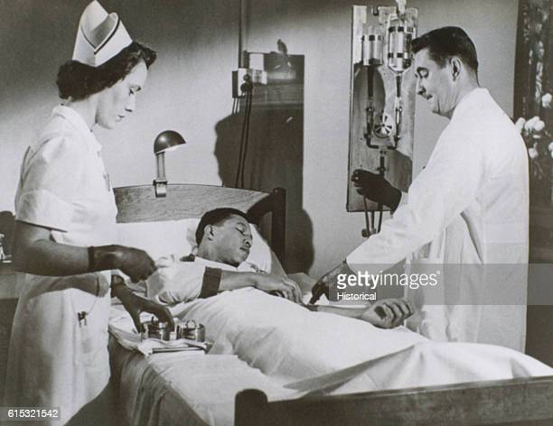 A cancer patient receives radioactive gallium intravenously