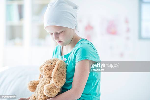 Cancer Patient with Her Stuffed Animal