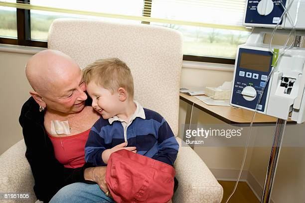 Cancer patient with young boy