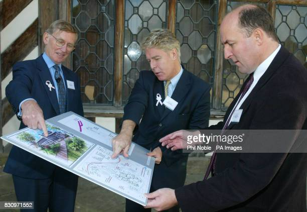 Cancer specialists Professor Tony Howell Professor Nigel Bundred and Professor Gareth Evans look over the proposed plans for Europe's first centre of...