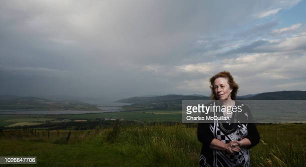 Cancer Support Worker Betty Holmes is photographed against the backdrop of the border between County Donegal and County Londonderry on July 23 2018...